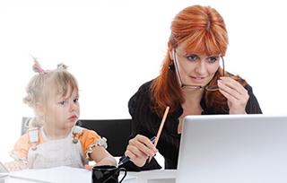 La importancia de mamá en el trabajo